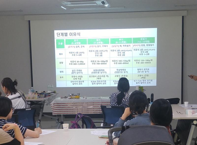 화성시, '초보맘 영양가득 이유식교실' 진행