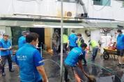 [단독] 용인시축구센터,수재민 위한 도움의 손길 보태···'구슬땀'