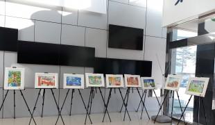 평창군, 청사 로비…초등생 작품 갤러리